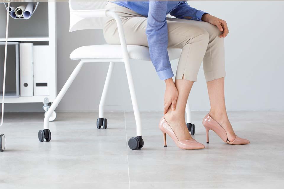 Visszér kockázat - magassarkú cipő